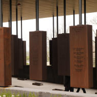Markers at the National Memorial